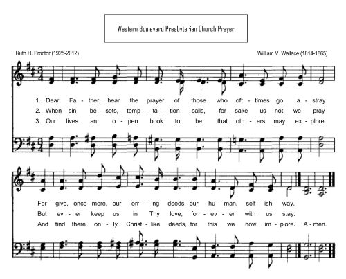 Western Boulevard Presbyterian Church Prayer by Proctor/Wallace