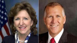 Kay Hagan and Thom Tillis