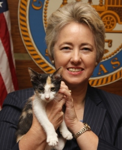 Mayor Annise Parker and friend