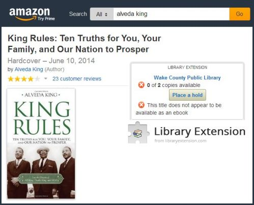 'King Rules' on Library Extension/Amazon