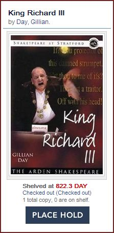 King Richard III by Gillian Day
