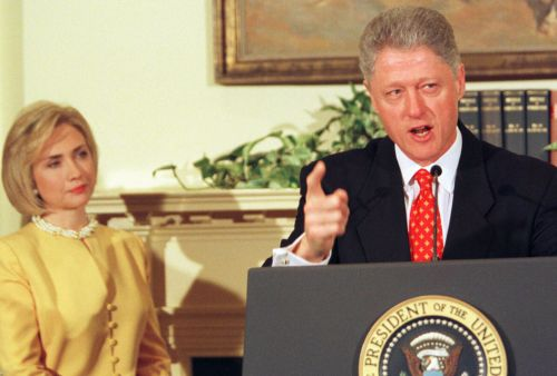 Former Secretary Clinton and former President Clinton, in unhappier times.