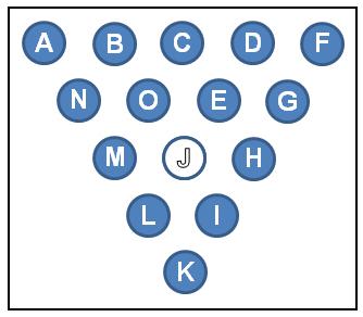 Peg Puzzle Grid