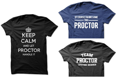 Proctor t-shirts