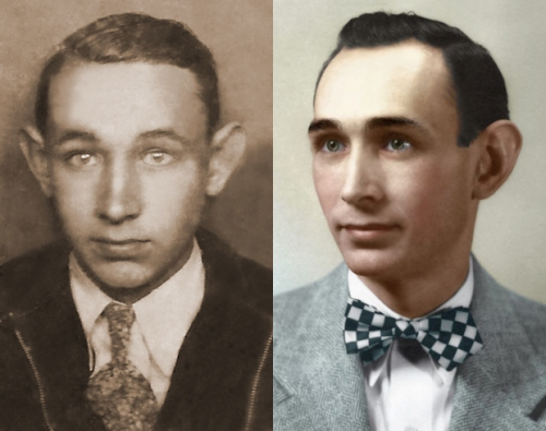 Two images of Grover Proctor Sr.