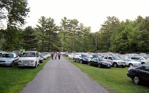 Tanglewood parking lot