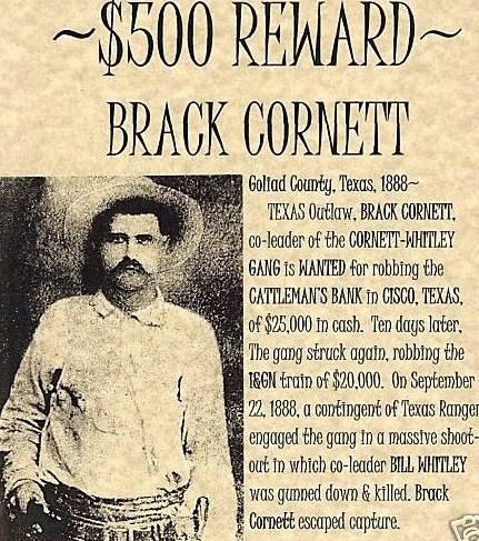 Wanted: Brack Cornett